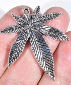 Hemp-Canadian-Made-Antique-Silver-Hemp-Leaf